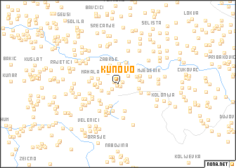 map of Kunovo