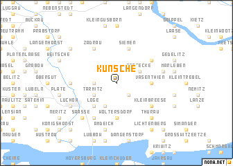 map of Künsche