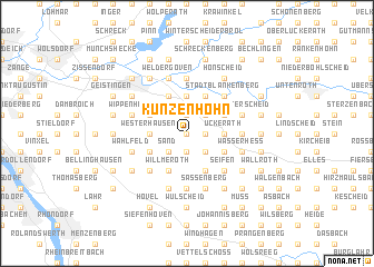 map of Künzenhohn