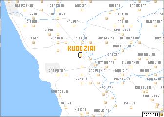 map of Kuodžiai