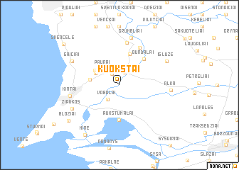 map of Kuokštai