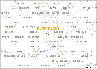 map of Kupiatycze