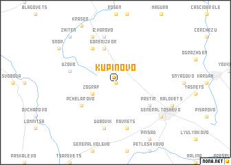 map of Kŭpinovo