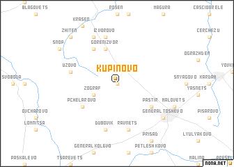 map of Kŭpinovo