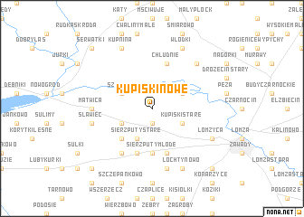 map of Kupiski Nowe