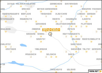 map of Kurakina