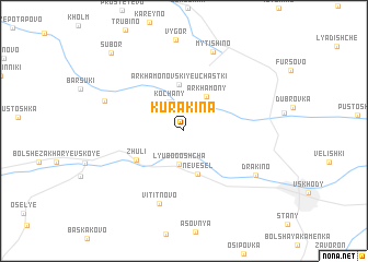 map of Kurakina