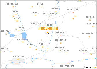 map of Kurbakino