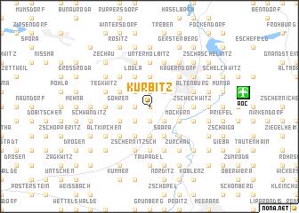 map of Kürbitz