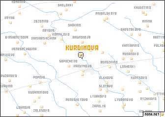map of Kurdimova