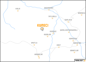 map of Küreci
