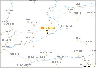 map of Kurgja
