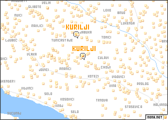 map of Kurilji