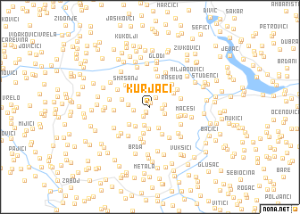 map of Kurjaci