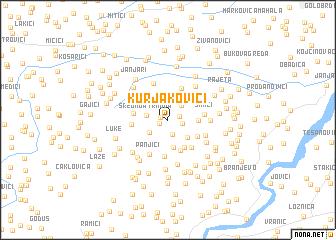 map of Kurjakovići