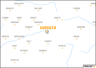 map of Kurkuta