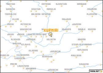 map of Kurmiai