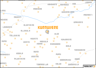 map of Kurnuvere