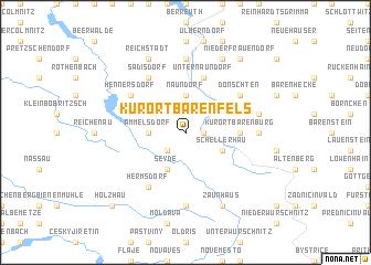 map of Kurort Bärenfels