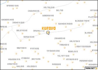 map of Kurovo