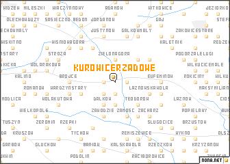 map of Kurowice Rządowe