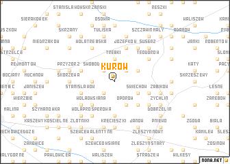 map of Kurów