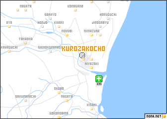 map of Kurozakochō