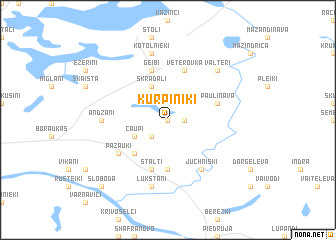 map of Kurpiņiki