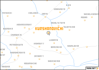 map of Kurshanovichi
