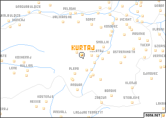 map of Kurtaj