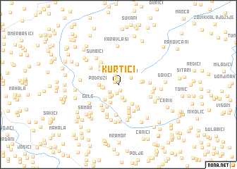 map of Kurtići
