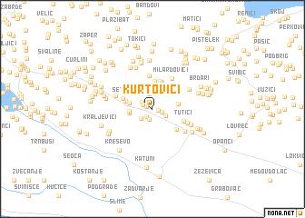 map of Kurtovići