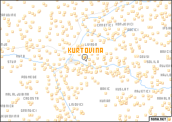 map of Kurtovina