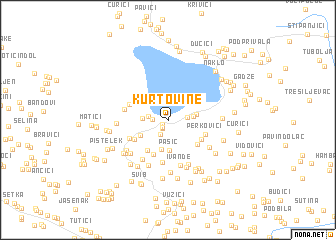 map of Kurtovine