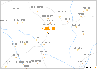 map of Kurume