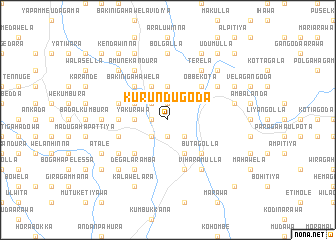 map of Kurundugoda