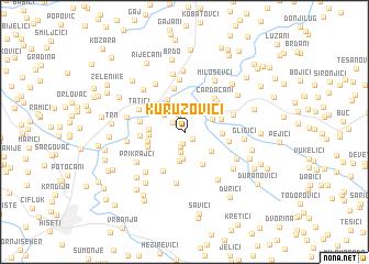 map of Kuruzovići