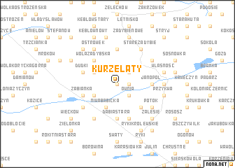 map of Kurzelaty