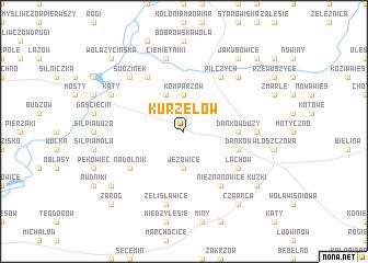 map of Kurzelów
