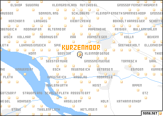 map of Kurzenmoor
