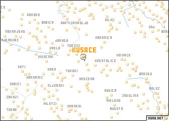 map of Kusače