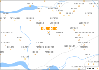 map of Kuşağaç