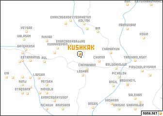 map of Kūshkak