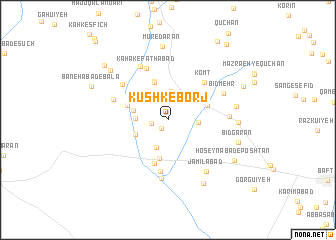 map of Kūshk-e Borj