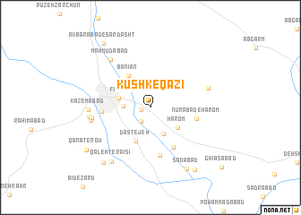 map of Kūshk-e Qāzī