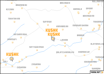 map of Kūshk