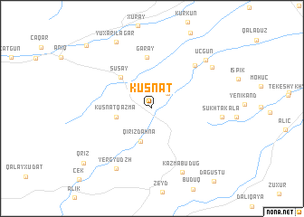 map of Küsnǝt