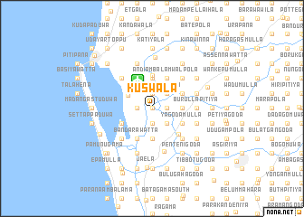 map of Kuswala