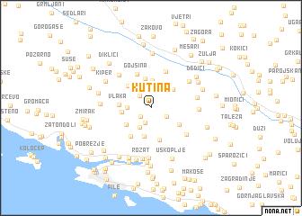 map of Kutina