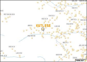 map of Kutleše